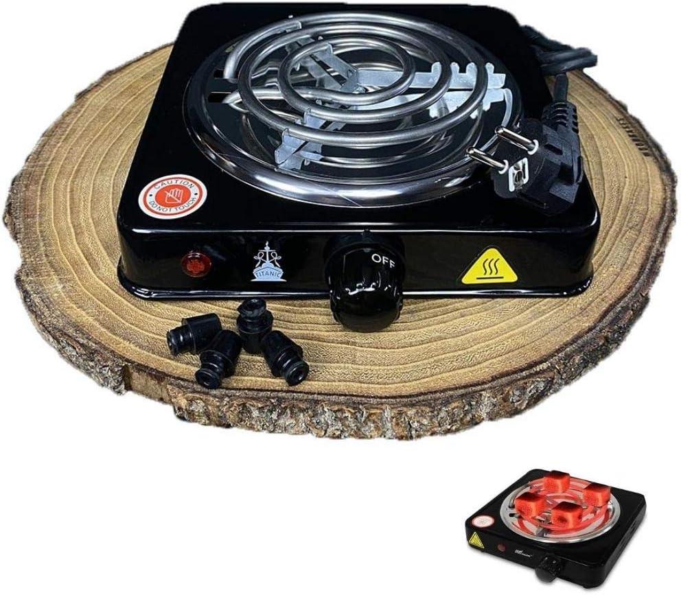 Hornillo Electrico 1000W para Cachimba, Hookah, Shisha Cocina Eléctrica para Hacer Carbón Vegetal