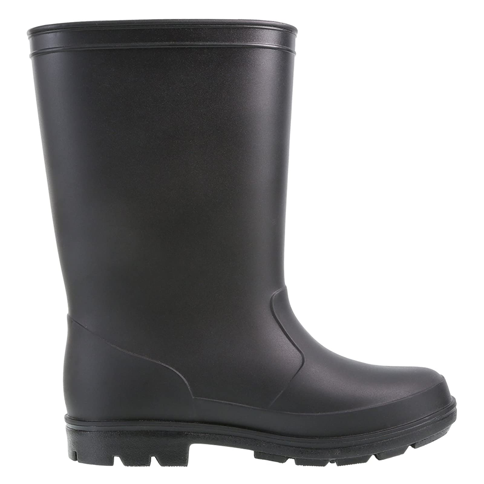 Rugged Outback Black Kids' Solid Rain Boots 174112010 - 1