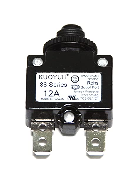 KUOYUH Circuit Breaker 88 series 125/250VAC 50/60Hz (1pc) (15A) - - Amazon.com
