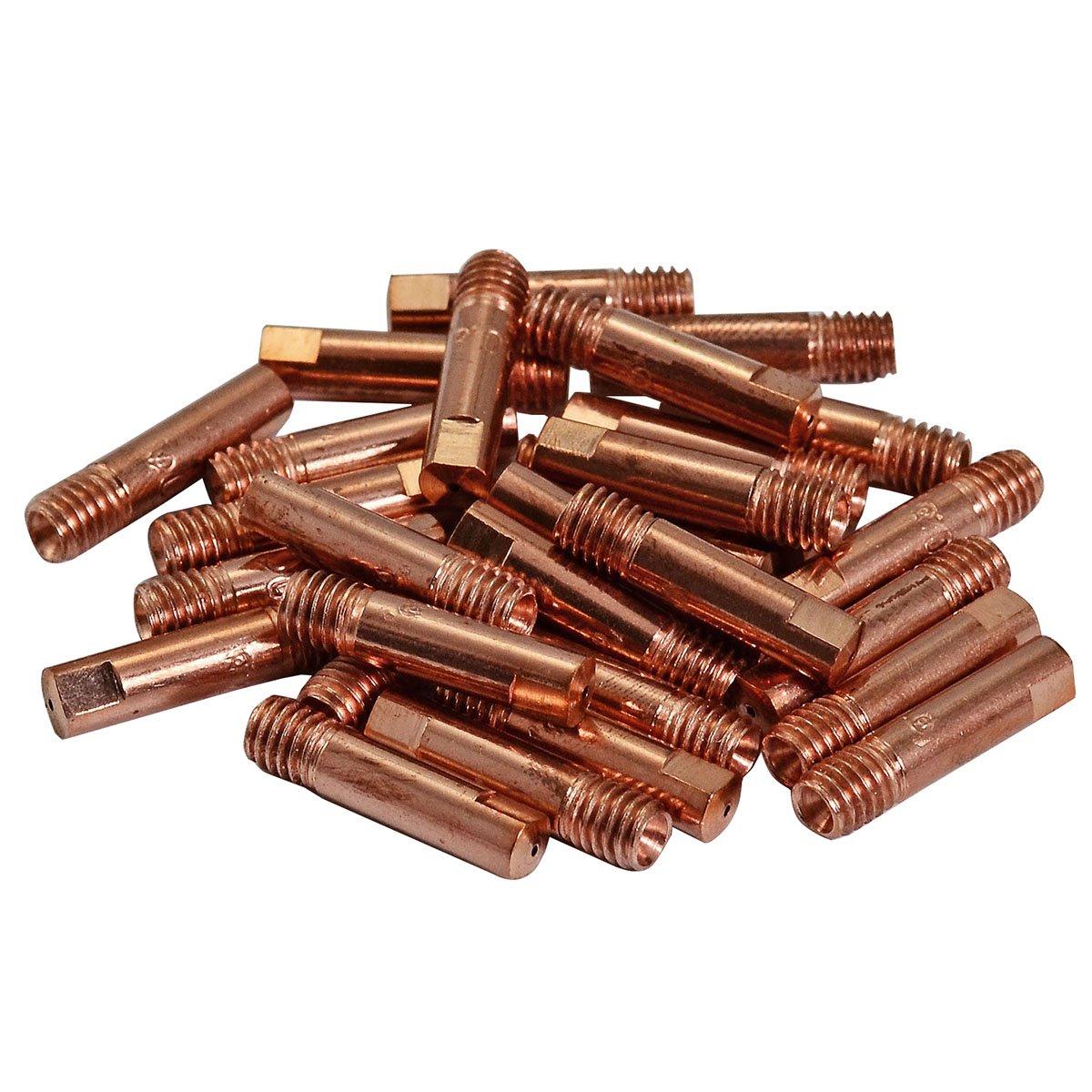 15AK MB15 MAG/MIG Soplete Contacto boquilla Φ 0, 8 M6x25mm 140, 0059 50pk RIVERWELDstore