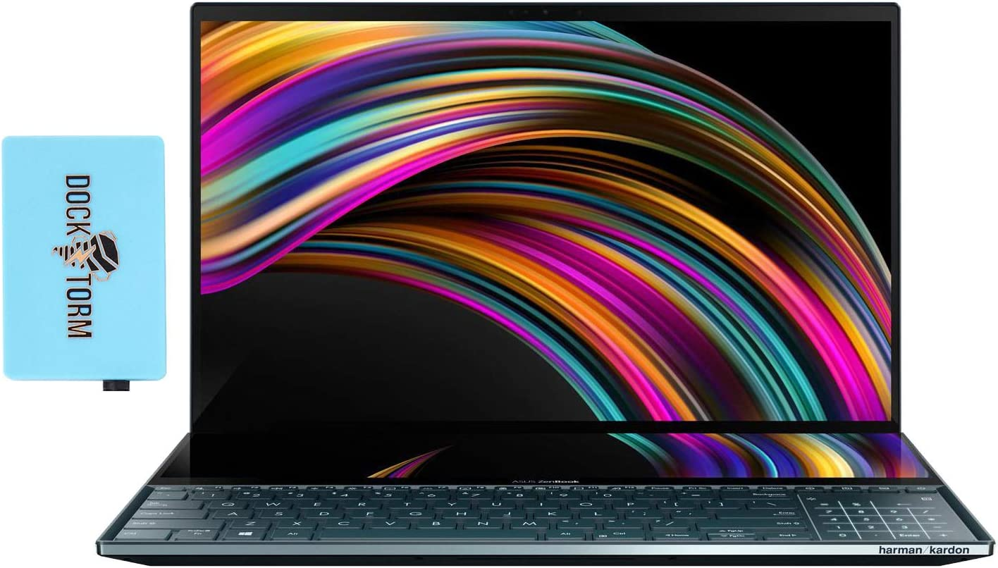 ASUS ZenBook Pro Duo UX581LV Gaming and Entertainment Laptop (Intel i9-10980HK 8-Core, 32GB RAM, 2TB PCIe SSD, NVIDIA RTX 2060, 15.6
