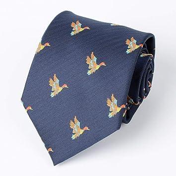 Guanben Herren Krawatte Seidenkrawatte Jagd Tiermuster 8 Cm Fur