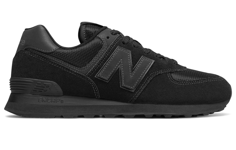 New Balance Herren Ml574E Sneaker,  40.5 EU|Schwarz (Black/Black Ete)