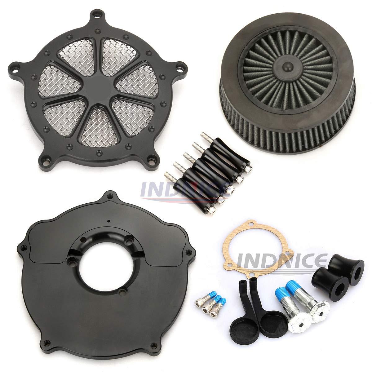 Coperchio sistema di aspirazione AIR nero per harley IRON 883 XL sportster 1991-2019 filtri aria sportster 883 1200 Speed 7 style