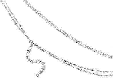 Bauchkettte Singapur 2reihig Hüftkette - Breite 2,3mm - 925 Silber Länge wählbar von 65cm-110cm