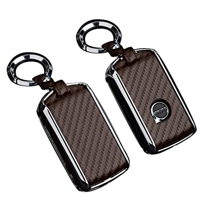 JOJOLOVEU Car Remote Flip Key Fob Shell Cover Case Galvanized Alloy for Volvo XC40 XC60 S90 XC90 V90 2020 2020 T5 T6 2015 2016 T8 (darkcoffee): Automotive