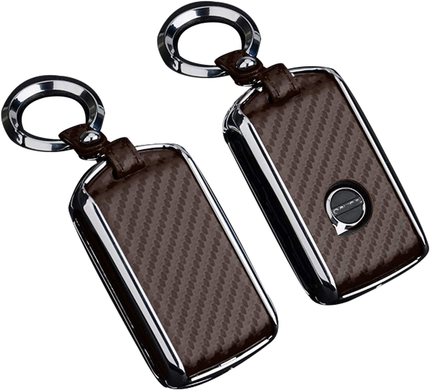 red JOJOLOVEU Car Remote Flip Key Fob Shell Cover Case Galvanized Alloy for Volvo XC40 XC60 S90 XC90 V90 2017 2018 T5 T6 2015 2016 T8