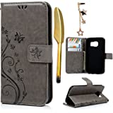 S7 Case,Galaxy S7 Case- (NOT FOR S7 EDGE) MOLLYCOOCLE [Natural Luxury Gray] Stand Wallet Purse Credit Card Holders Design Flip Folio TPU Soft Bumper PU Leather Slim Fit Cover for Samsung Galaxy S7