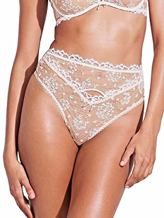 e71289811612c Victoria's Secret Dream Angels Nude & White Embroidery High-Waist ...