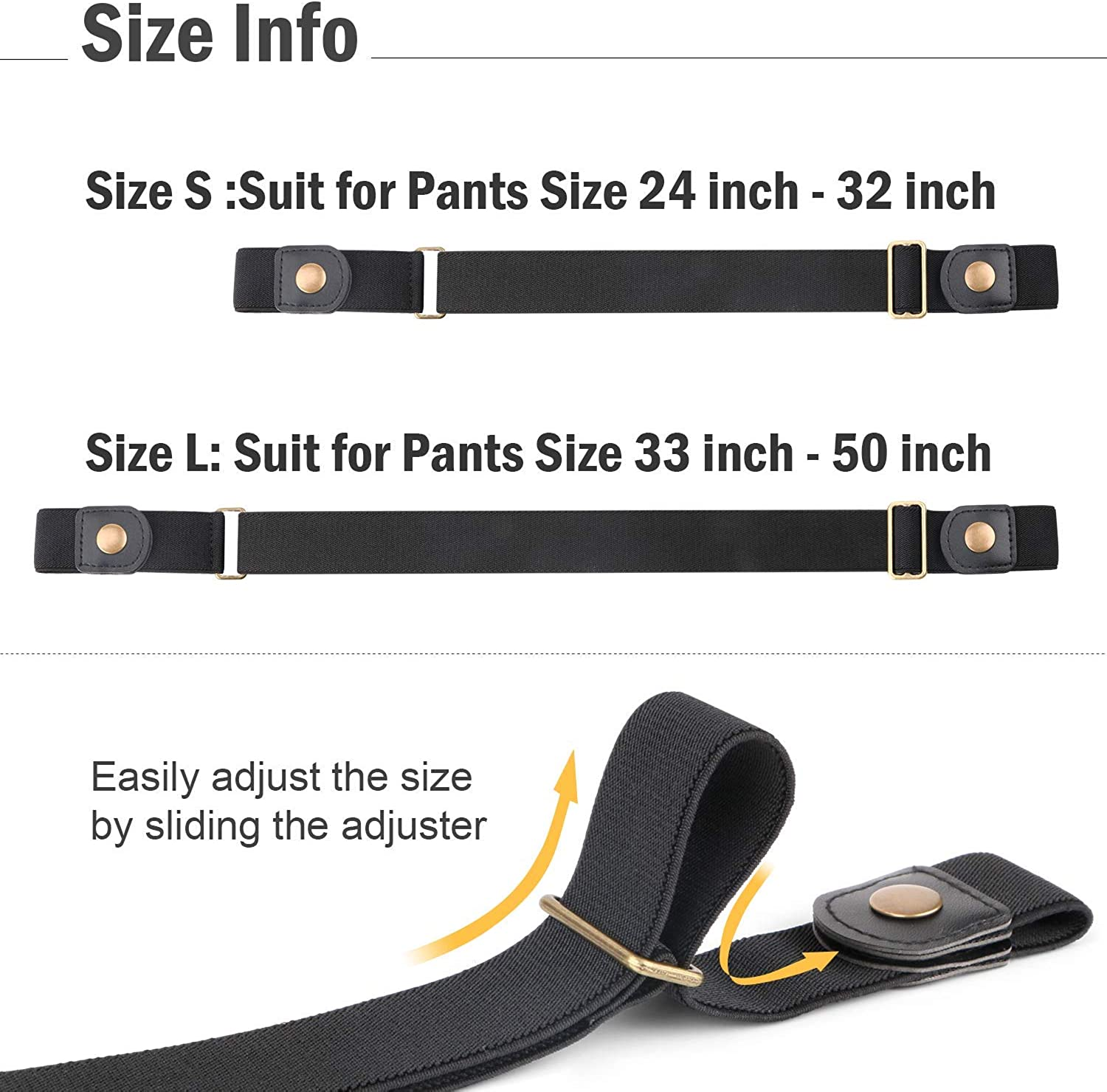 Buckle Free Belt Women Stretch Plus Size Belt No Buckle//Show Invisible Belt for Jeans Pants Dresses by WERFORU