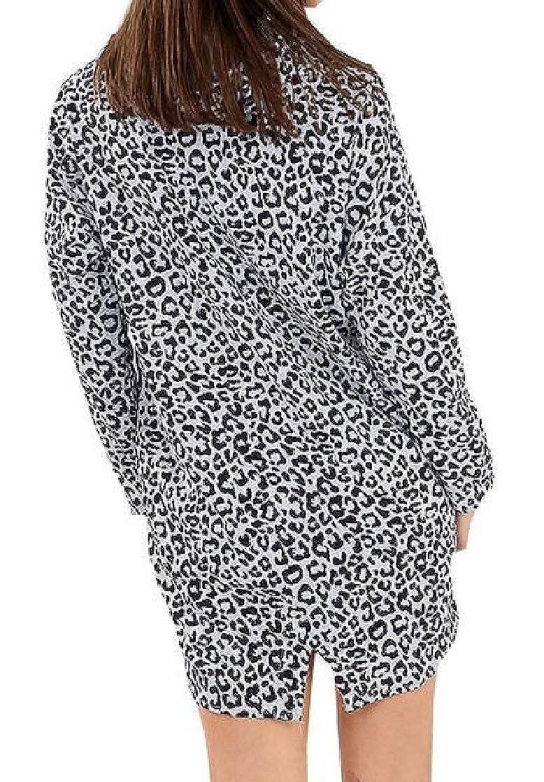 Joe Wenko Women Print Fashion Pullover Hoodie Leopard Sweatshirts
