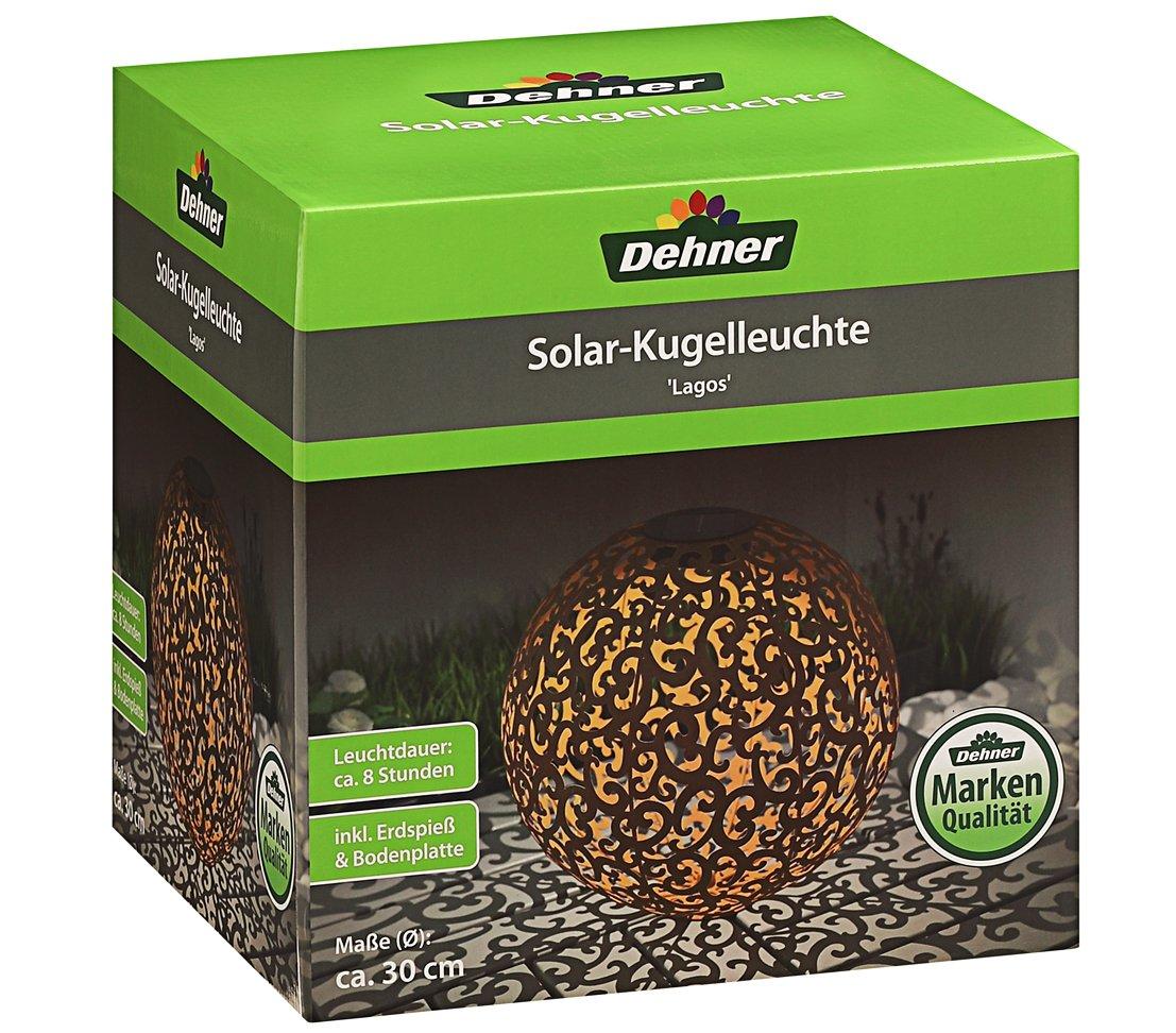 Dehner Solarkugel Lagos ø 30 Cm Metall Edelrostfarben Amazonde