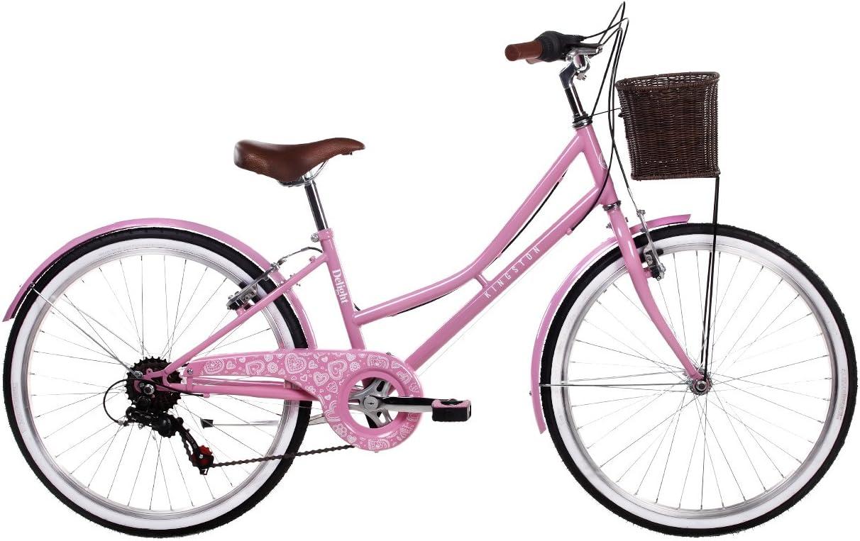 Kingston Delight Bicicleta clásica para niña, 6 velocidades, rueda ...
