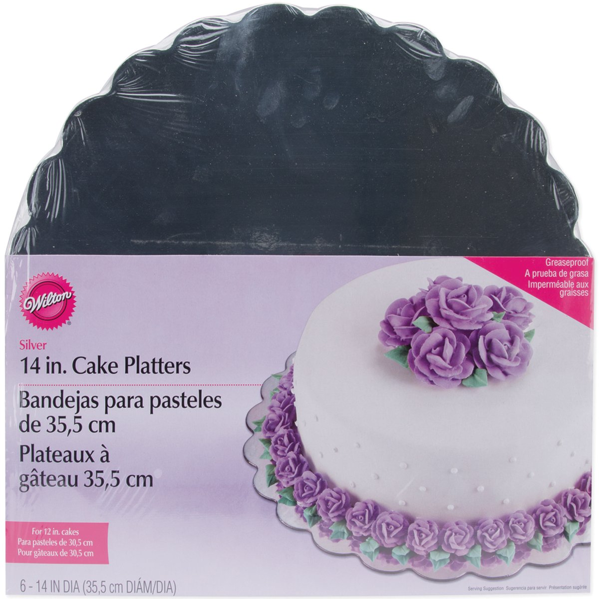 amazoncom wilton 14 inch silver cake platters 6 count cake boards platters