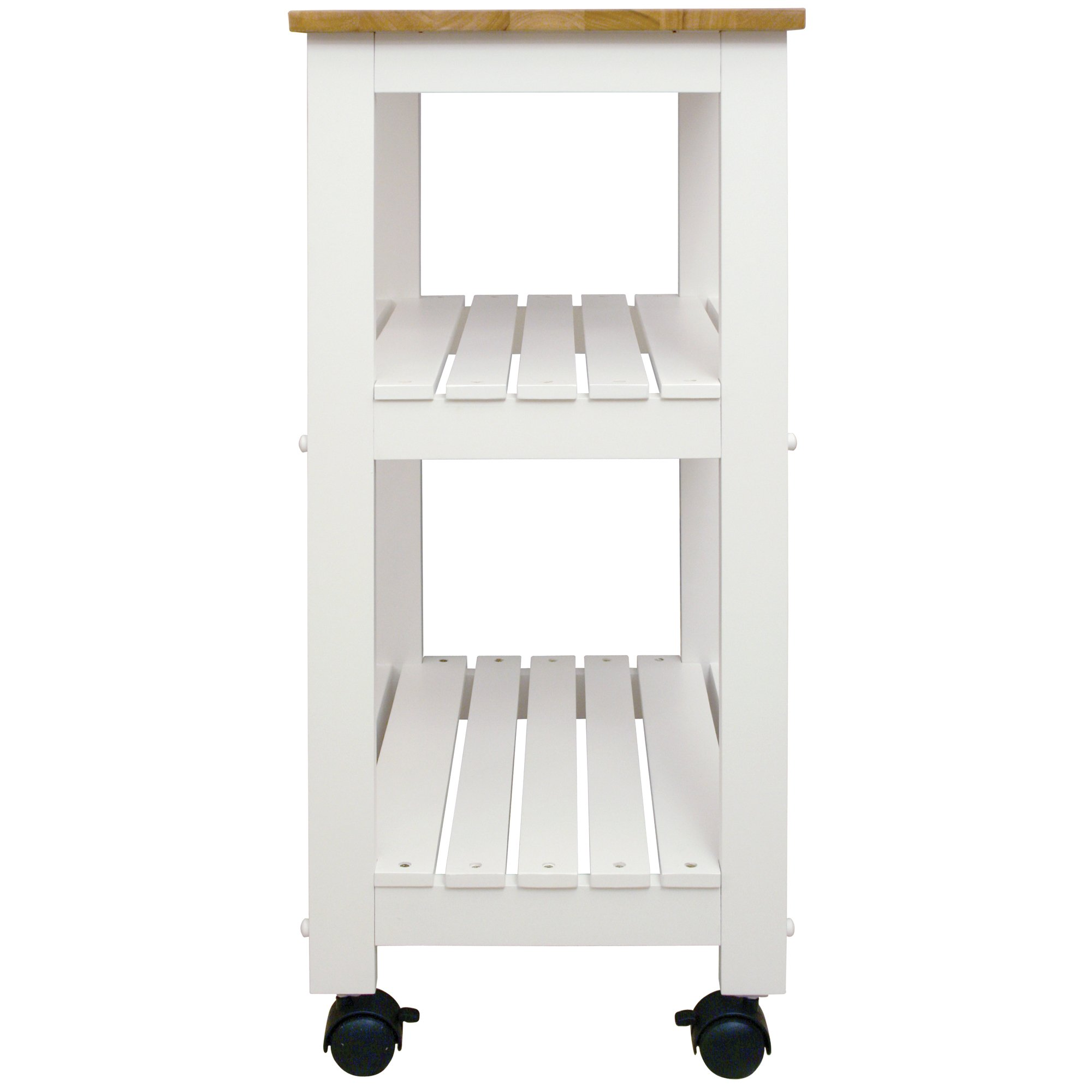 Catskill Craftsmen Utility Kitchen Cart/Microwave Stand, White Base with Natural Top by Catskill Craftsmen (Image #3)