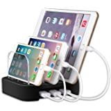 MixMart 3-Port Charging Station [17W/3.4A Total] Charging Docks and Portable USB Travel Charger for iPhone 7/7 Plus, Samsung Galaxy, and Tablets - Black
