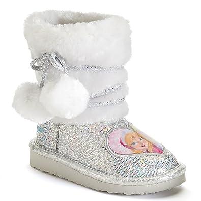 2668ad5e8f8b Disney Frozen Anna and Elsa Toddler Girls  Glitter Boots (7) Silver