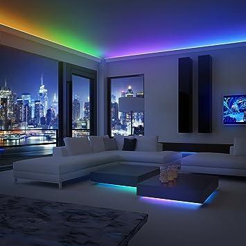 Music LED 197u0026quot; Versatile Linkable Corner/Under Cabinet Strip Light
