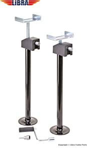 "LIBRA Set of 2 Heavy Duty Quick-Lift RV Slide Out Stabilizer Jacks 5000lbs Adjust 16""-28"" …"