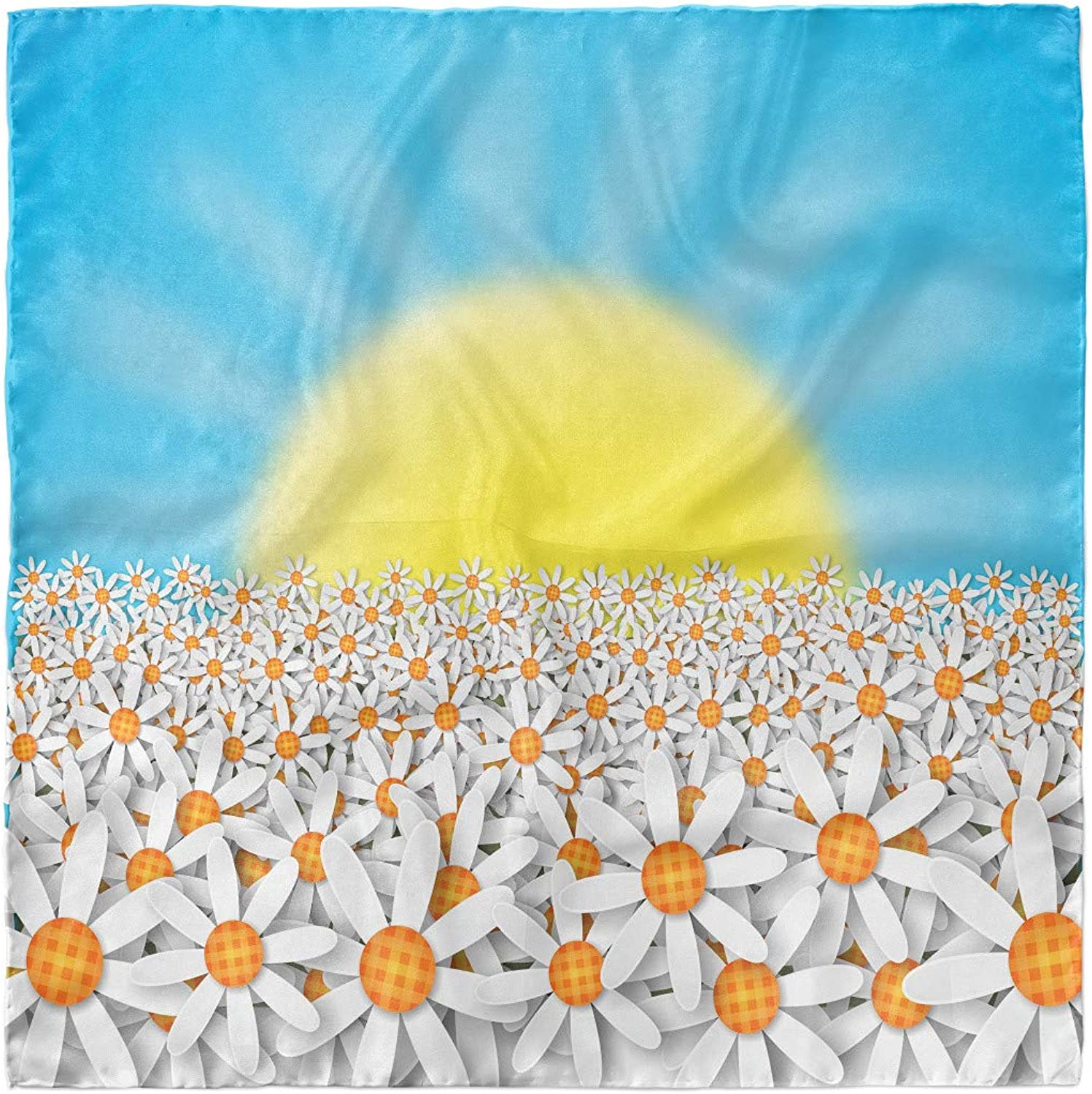 Ambesonne Flower Landscapes Hairscarf Sun and Daisies Head Wrap