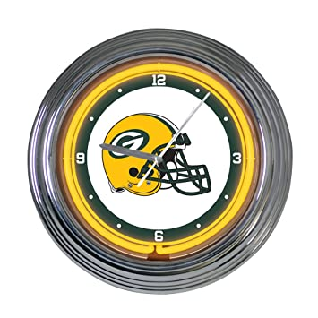 Amazoncom Green Bay Packers 15 inch Neon Clock Sports Fan