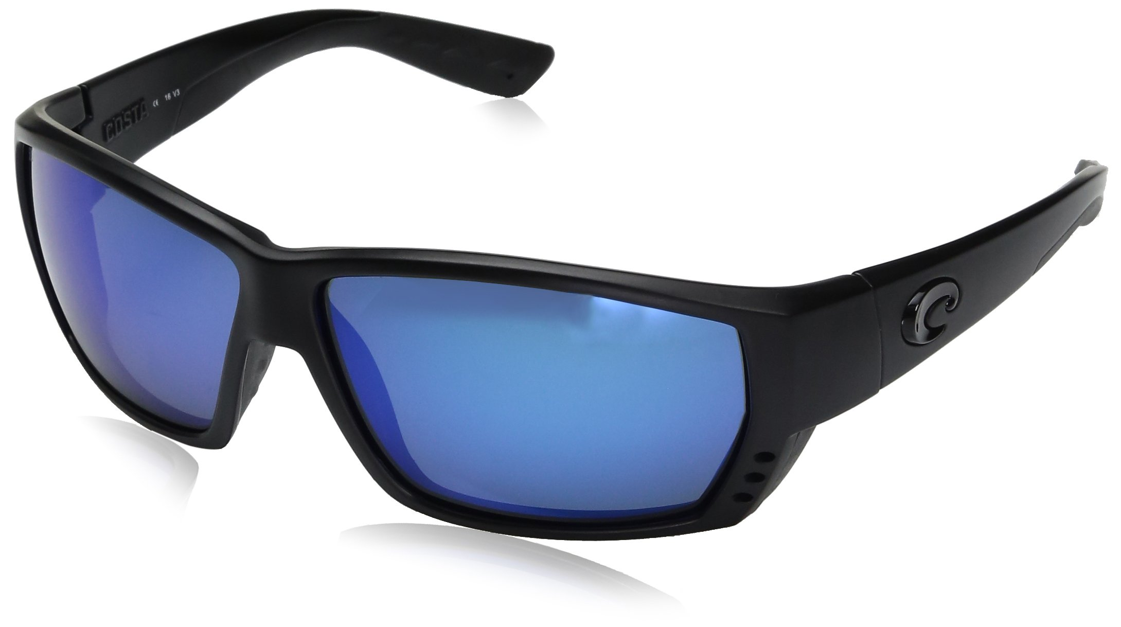Costa Del Mar Tuna Alley Sunglasses Blackout/Blue Mirror 580Glass