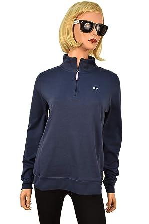 1ad80a6e0482a Vineyard Vines Womens Jersey 1 4 zip pullover sweater (Blue Blazer ...