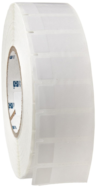 Matte Finish White//Translucent Thermal Transfer Printable Label Brady THT-62-427-3.5 0.75 Width x 1.75 Height B-427 Self-Laminating Vinyl 3500 per Roll Brady Worldwide Inc.
