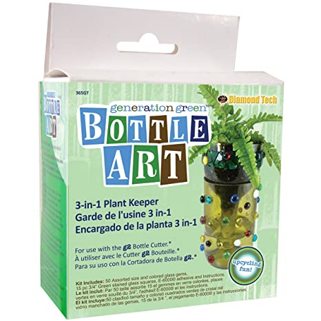 Generation Green Bottle Art 3-In-1 Plant Keeper Kit