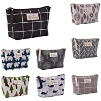 Eddizu Cotton Linen Cosmetic Makeup Bag (Various Colors)