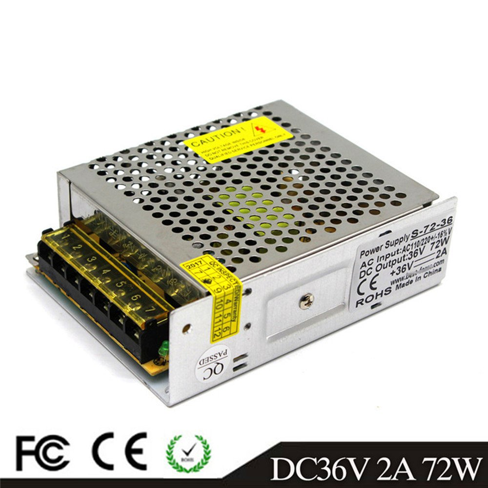 36V 2A 72W LED Driver Switching Power Supply 110/220VAC-DC36V Transformer Monitoring Power Supply Industrial Power Universal Type by MEISHILE (Image #1)