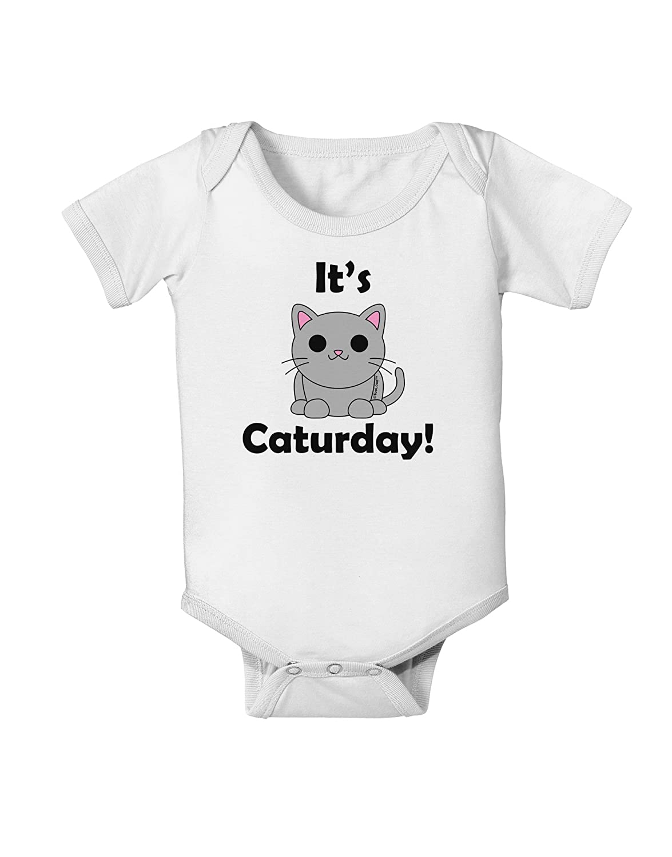TooLoud Its Caturday Cute Cat Design Baby Romper Bodysuit