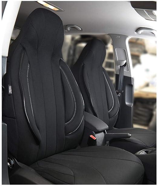 Farbe Premium Blau Effekt 3D f/ür Fahrer und Beifahrer Fiorino Vorne Sitzbez/üge