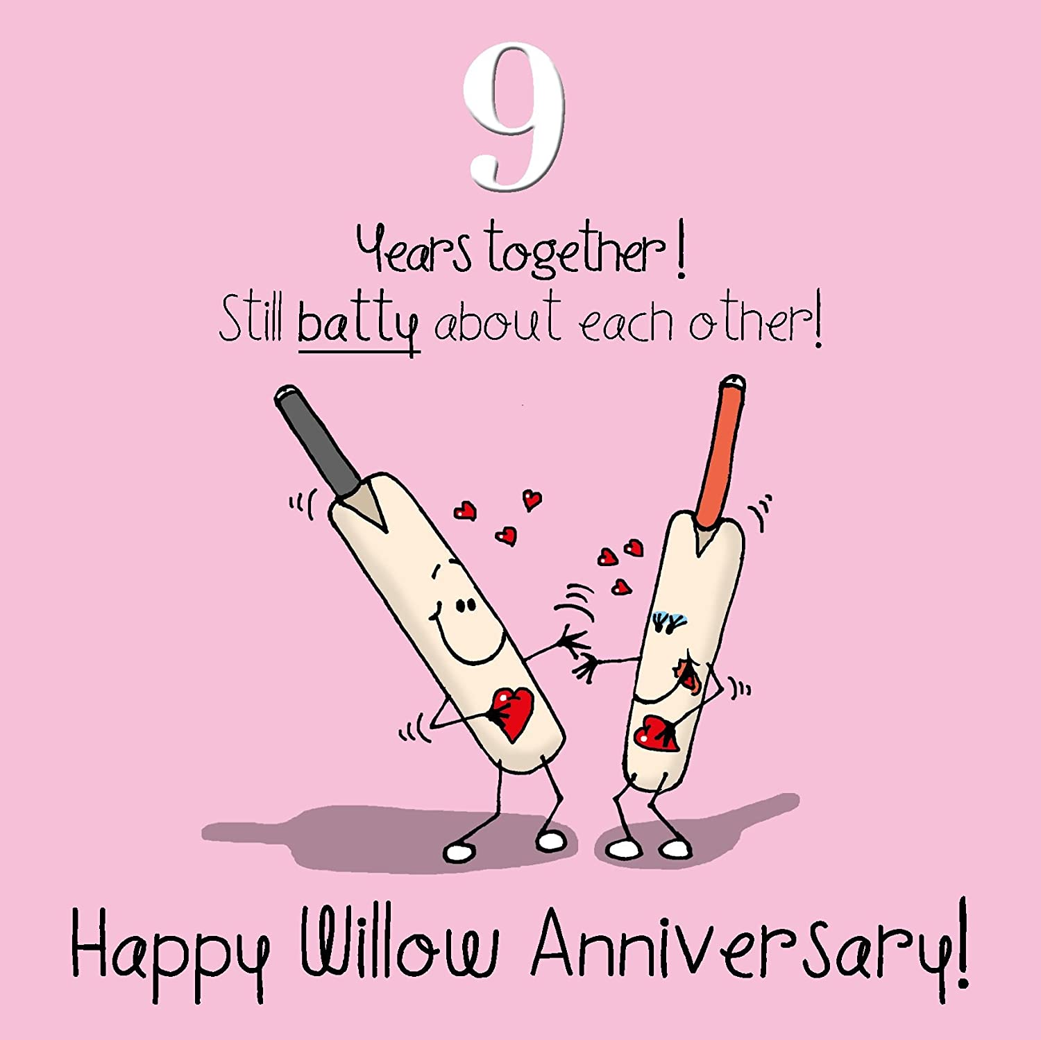 9th Wedding Anniversary Greetings Card - Willow Anniversary: Amazon ...