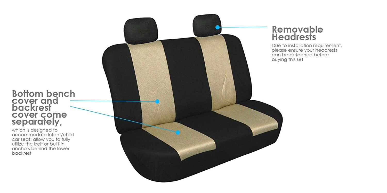 or Van E-Z Travel Car Storage Bag SUV Blue//Black- Fit Most Car FH Group FB102114 Full Set Classic Cloth Car Seat Covers w Truck