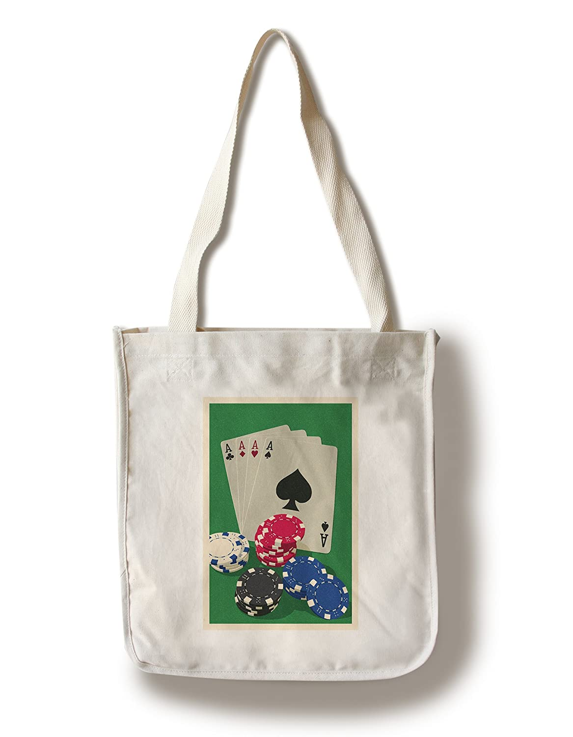 Poker Cards and chips – 活版 Canvas Tote Bag LANT-76252-TT Canvas Tote Bag  B01GKNFC94