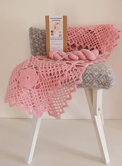 Kit de encaje ganchillo bebé Manta de lujo - 100% suave lana ...