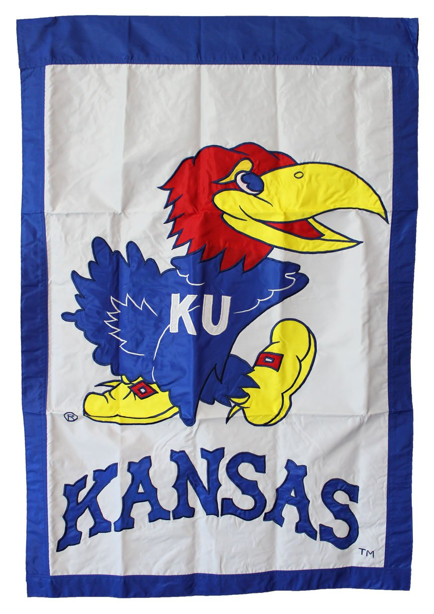 University of Kansas - 28'' x 44'' Double Sided Appliqued NCAA Banner