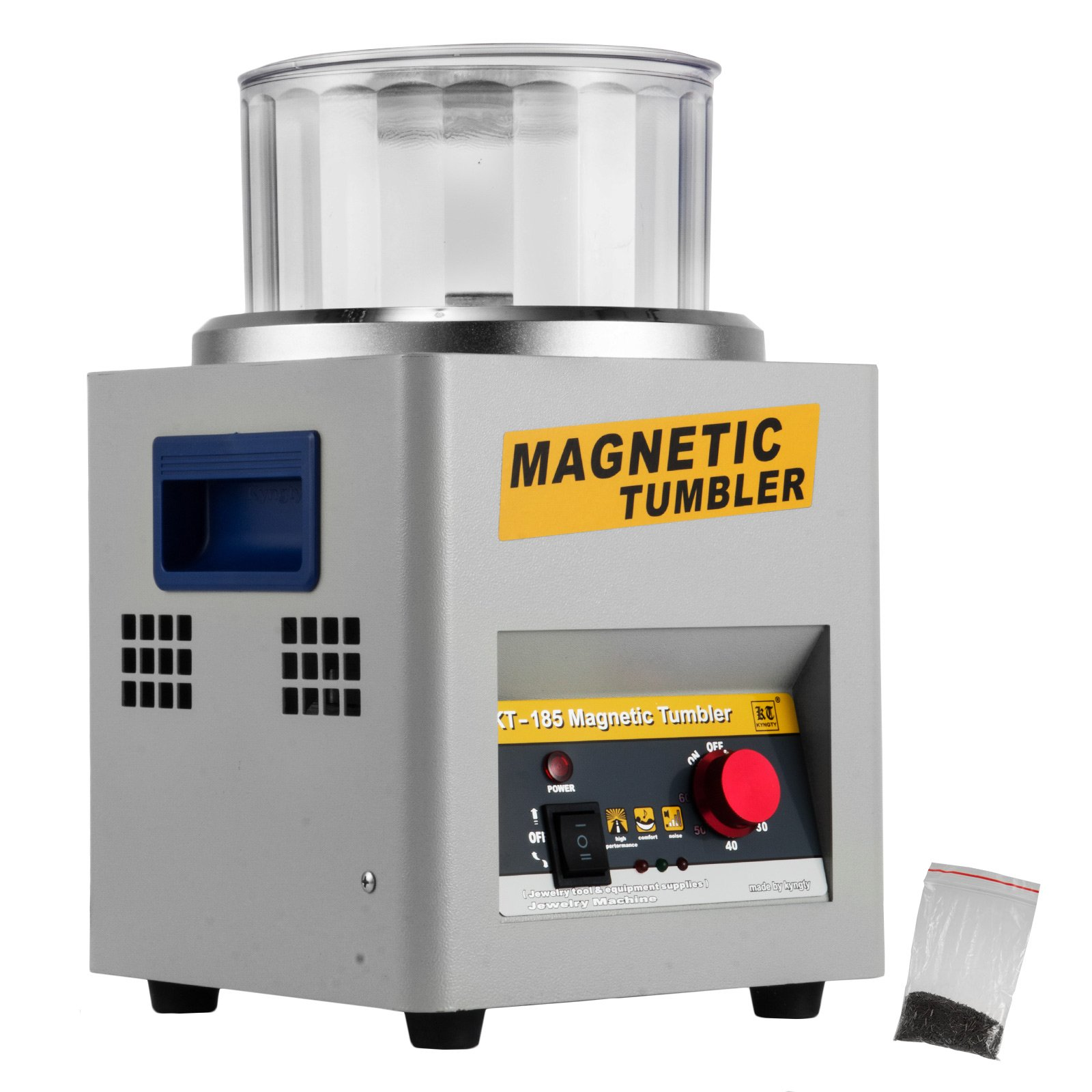 Happybuy Magnetic Tumbler 180mm Jewelry Polisher Tumbler 2000 RPM KT-185 Jewelry Polisher Finisher with Adjustable Speed for Jewelry (185mm) by Happybuy (Image #1)