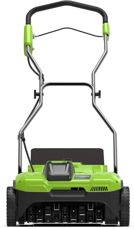 Greenworks Tools 2504807 Greenworks 2504807-Escarificador, batería ni cargador, 40 V, Color verde