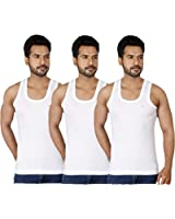 Dixcy Josh Men's Seleveless Cotton Vest Pack of 3