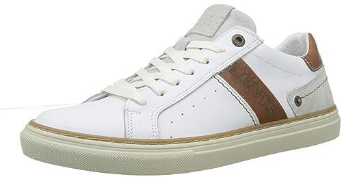 Levis Footwear and Accessories Baker, Zapatillas para Hombre, Blanco (Regular White 51)