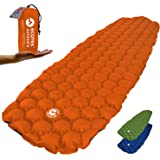 EcoTek Outdoors Hybern8 Ultralight Inflatable Sleeping Pad for Hiking Backpacking and Camping - Contoured FlexCell Design - Perfect for Sleeping Bags and Hammocks