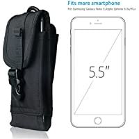 Hengwin Belt Clip Pouch MOLLE Tactical Smartphone Holster Nylon Waist Bag Carrying Case (Black)