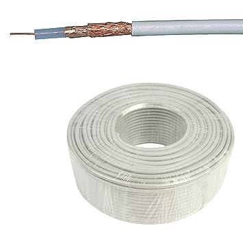 Eurosell coaxial Cable coaxial de antena – Rollo 100 m – Coax 12 7.0 mm –