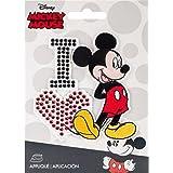 Simplicity disneyi Love con Brillantes, diseño de Mickey, poliéster,, 10,34x 14.22X 0,23cm