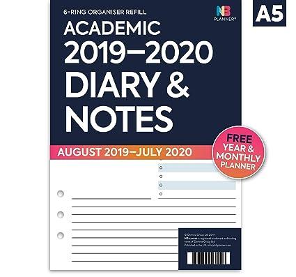 NBplanner® Academic 2019-2020 - Recambio para agenda de ...