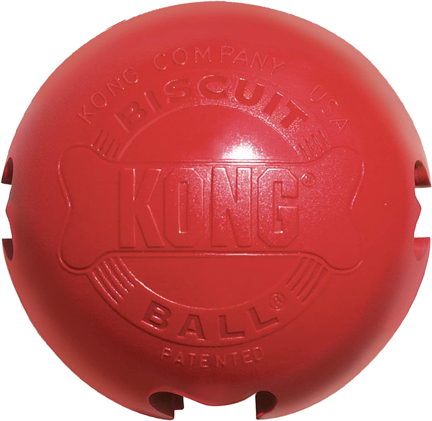 KONG - Biscuit Ball - Durable Rubber, Treat Dispensing Toy - for Large Dogs