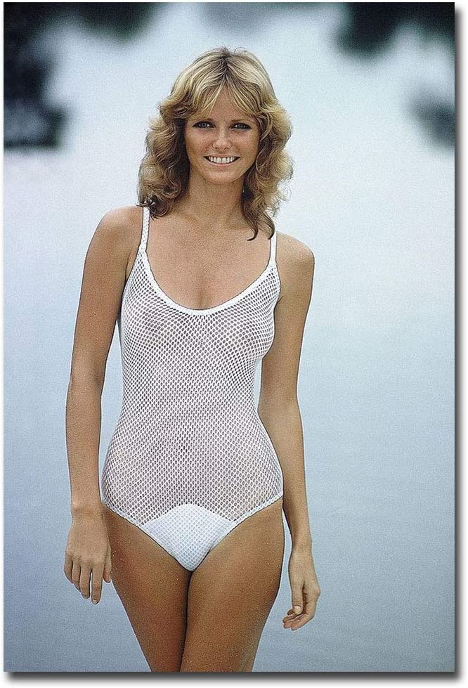 "Cheryl Tiegs White bikini sexy Refrigerator Magnet Size 2.5"" x 3.5"""
