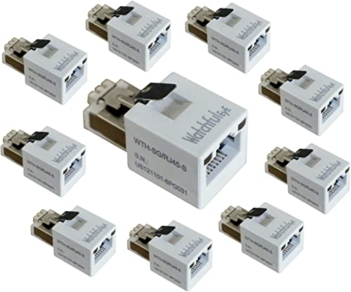 WatchfulEyE WTH-SG RJ45-S x10pcs Direct in Line Plug-in Ethernet Surge Protector